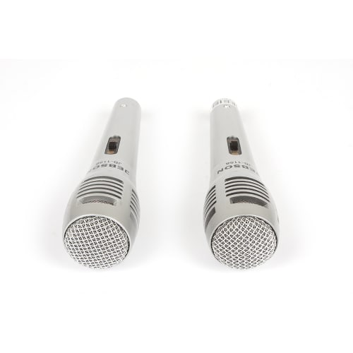 JEBSON 2-Pack Dynamic Microphone Set with 2 x 3m XLR Cables