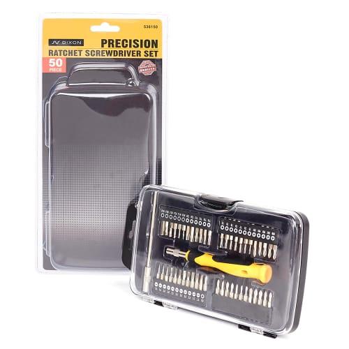 DIXON Precision Ratchet Screwdriver Set – 50 Piece