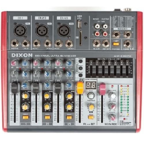 DIXON 5CH DJ LINE MIXER (AM-502FX)