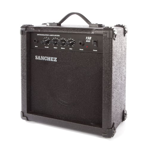 SANCHEZ 15W Electric Bass Amplifier with 4 band equaliser