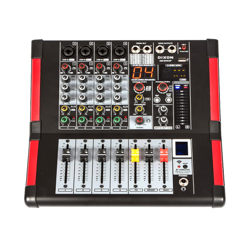 DXNPRO 4 Channel Powered Mixer with Bluetooth
