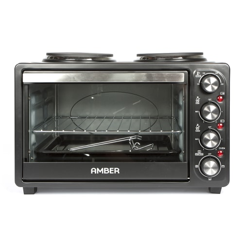 Amber 21L Mini Kitchen Countertop Oven and Double Plate Stove