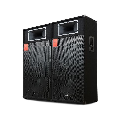 """DIXON Dual 15"""" 800W DJ/PA Speaker System"""