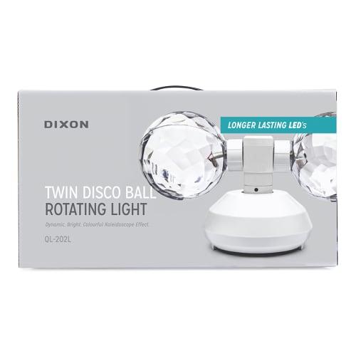 DIXON Twin Rotating Disco Ball Light