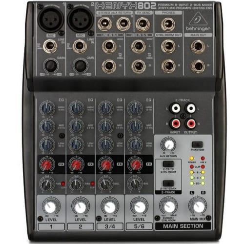 BEHRINGER 6CH DJ LINE MIXER (XENYX 802)