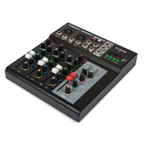 Dixon 4-channel Mixing Console with Bluetooth & USB Playback