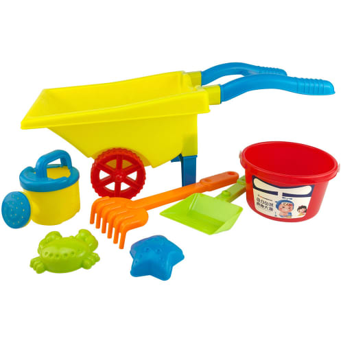 6-piece Beach Set with Wheelbarrow
