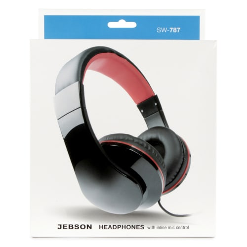 Jebson Stereo Headphones with in-line mic