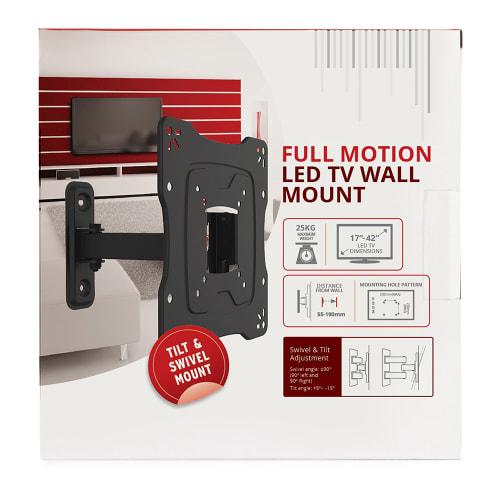 FULL MOTION LED TV WALL MOUNT (17 - 42-inch TVs)