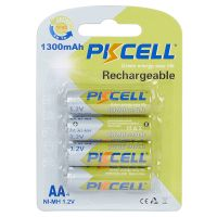 PKCELL Four-pack AAA Rechargeable Batteries