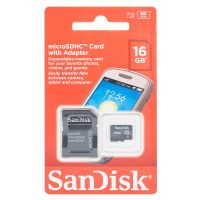 SanDisk 16GB MicroSD Card with Adapter