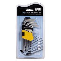 BEYER 9-Piece Short Arm Hex Key Set