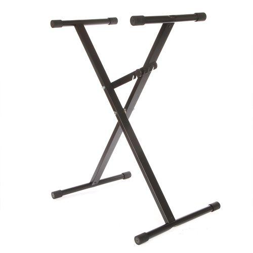 Adjustable X-Style Black Keyboard Stand