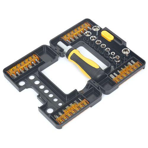 DIXON Ratchet Screwdriver Set – 38 pieces with portable carry case