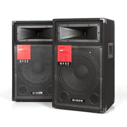 """DIXON 10"""" 400W PA/DJ Speaker System"""