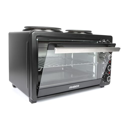 AMBER 26L Mini Kitchen Countertop Oven and Double Plate Stove