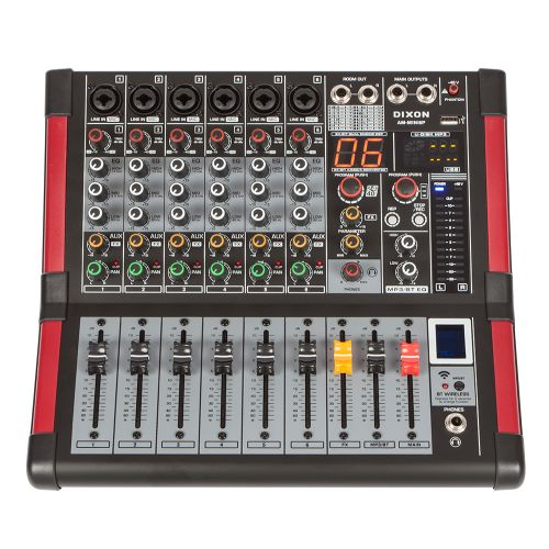 DXNPRO 6 Channel Powered Mixer with Bluetooth