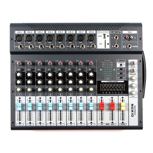 DIXON 8 Channel Powered Mixer with Bluetooth