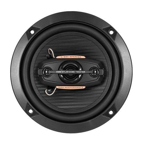 """DIXON 260W 6.5"""" 4-way Coaxial Car Speakers"""