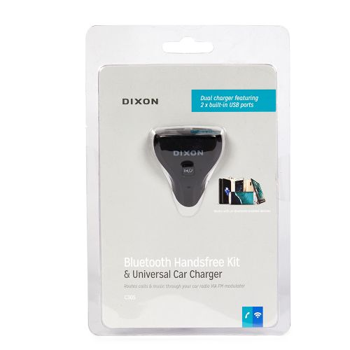 DIXON Bluetooth Handsfree Kit & Universal Car Charger – with two USB ports