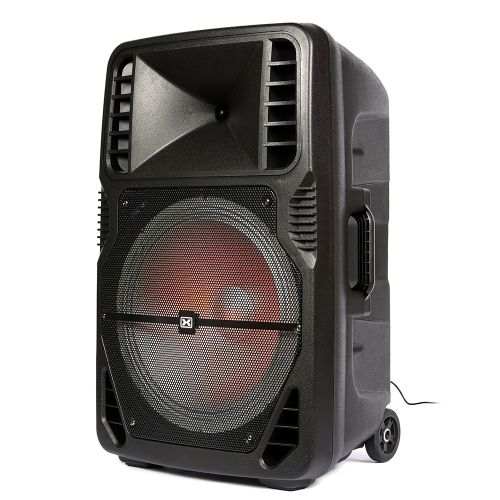 "DIXON 15"" Portable Party Speaker – with integrated wheels - 1560233881"