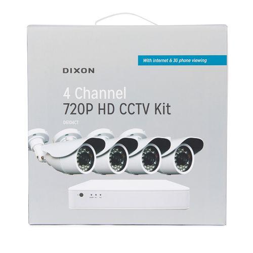 DIXON 4-Channel 720P CCTV Kit