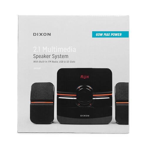 DIXON 60W 2.1 Multimedia Desktop Speaker System
