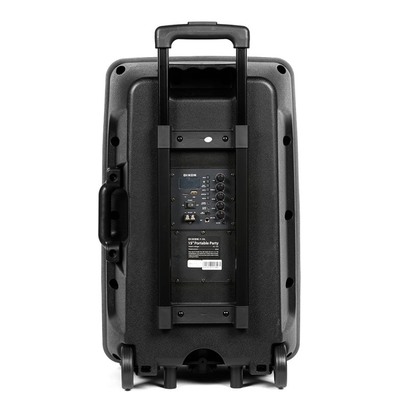 """DIXON 15"""" Portable Party Speaker – with integrated wheels - 1560233879"""