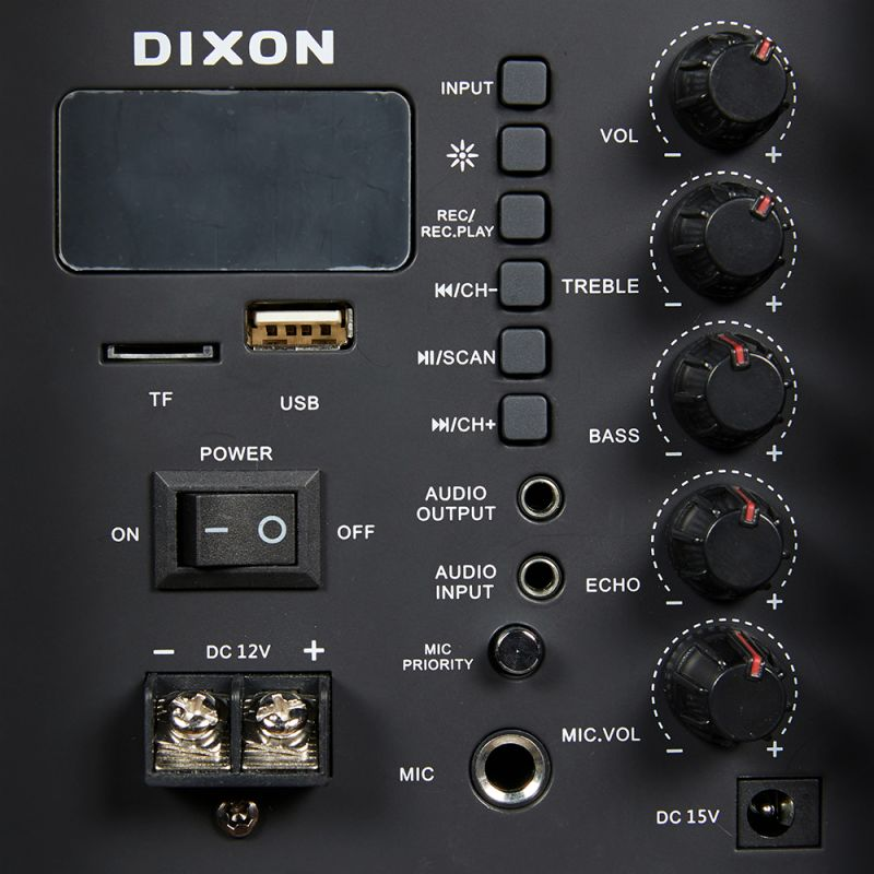 """DIXON 15"""" Portable Party Speaker – with integrated wheels - 1560233881"""