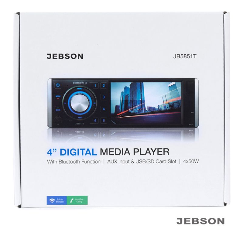 "JEBSON 4"" Car Digital Media Player with USB/SD Slot - 1568641161"