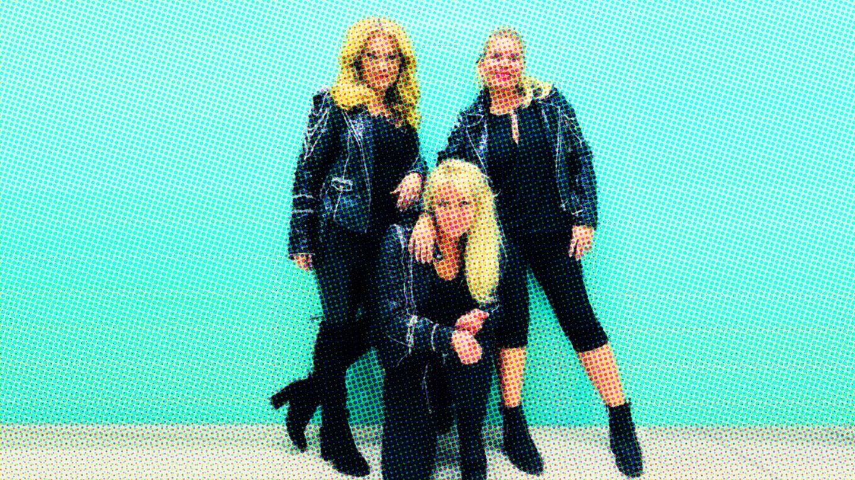 Lili, Susie och Ankie Bagger på Casino Cosmopol