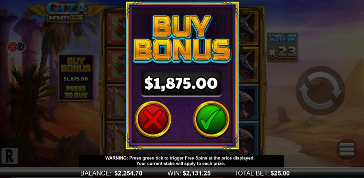 slots giza infinity reels bonus buy