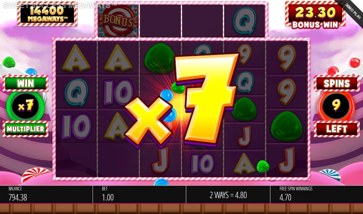 Sweet Success Megaways Free Spins with Unlimited Win Multiplier