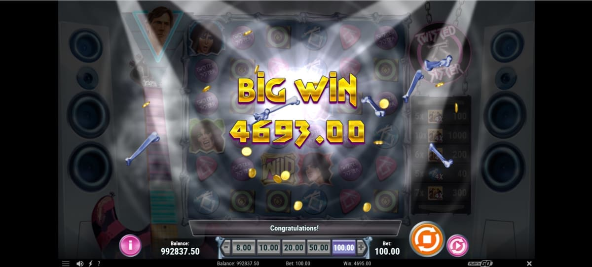 Big win on Twister Sister Slot from Play'n Go