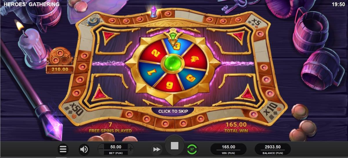 Hereos Gathering Fortune Wheel