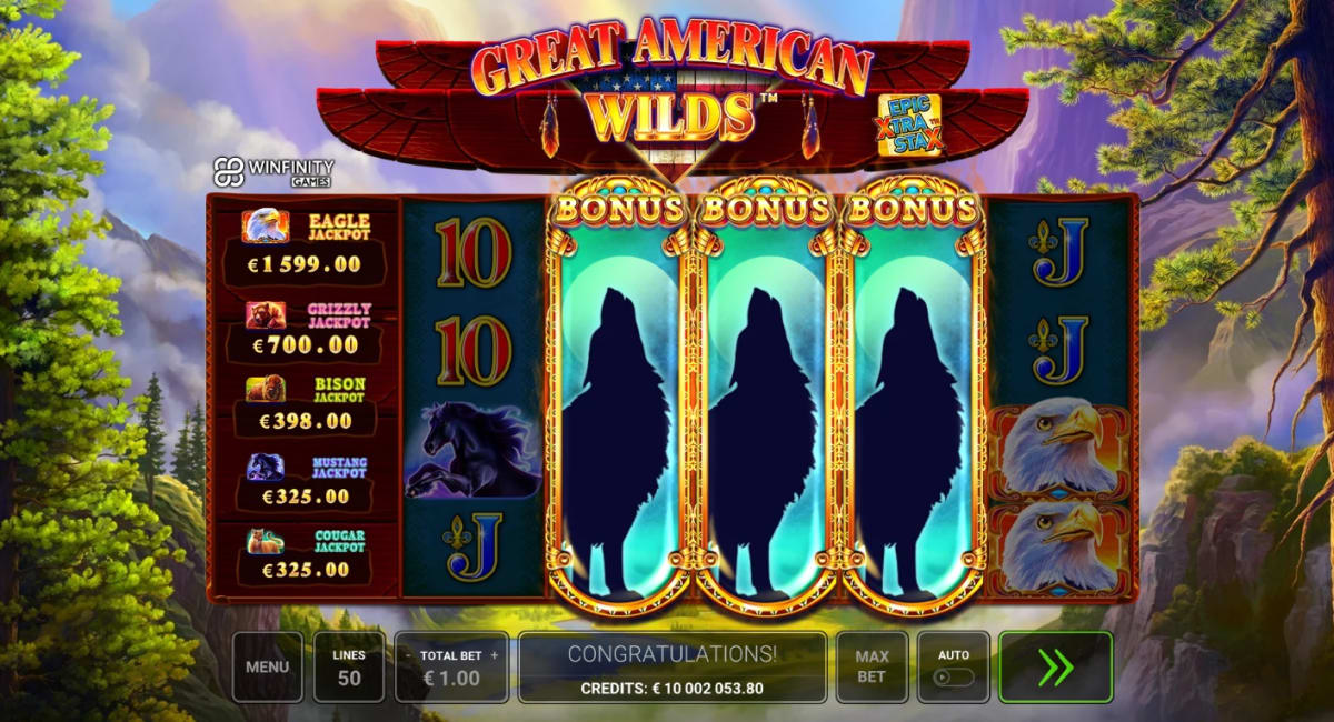 Great America Wilds Free Spins