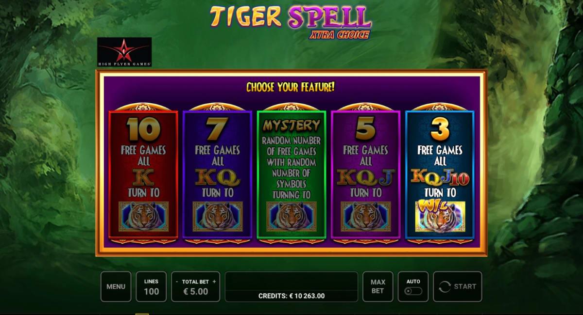 Tiger Spell Free Spins