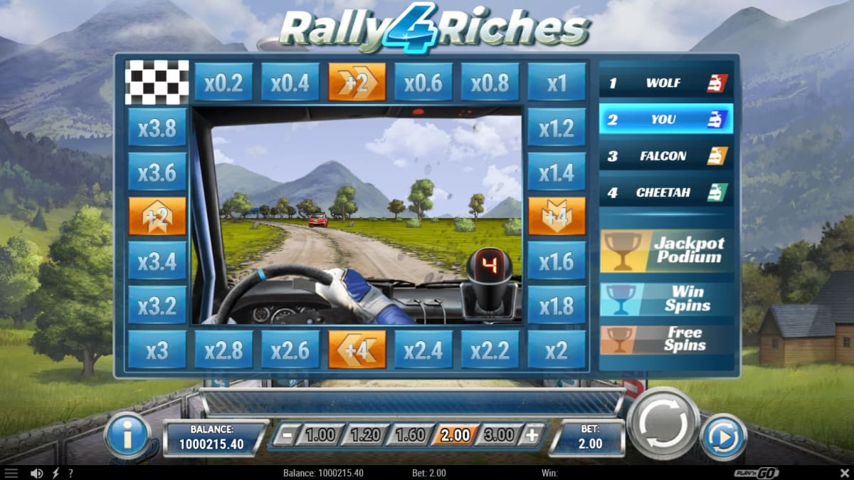 Rally Riches 4 bonus