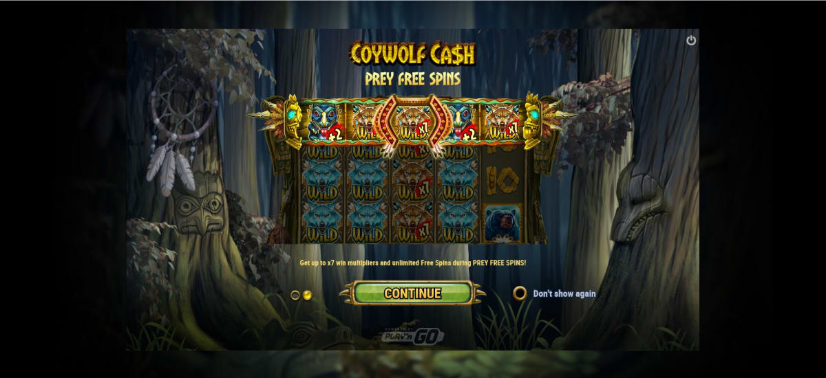 Coywolf Cash freespins
