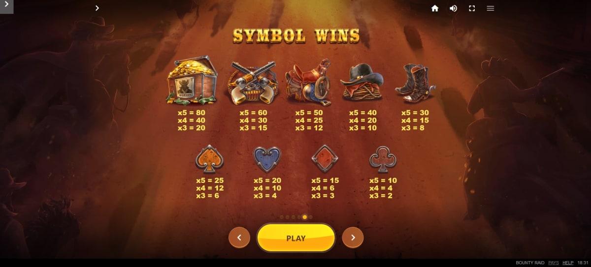Bounty Raid symbols