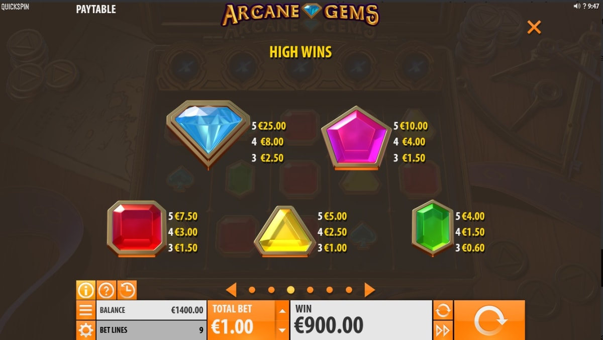 arcane gems high symbols