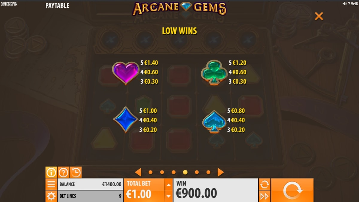 Arcane Gems low symbols