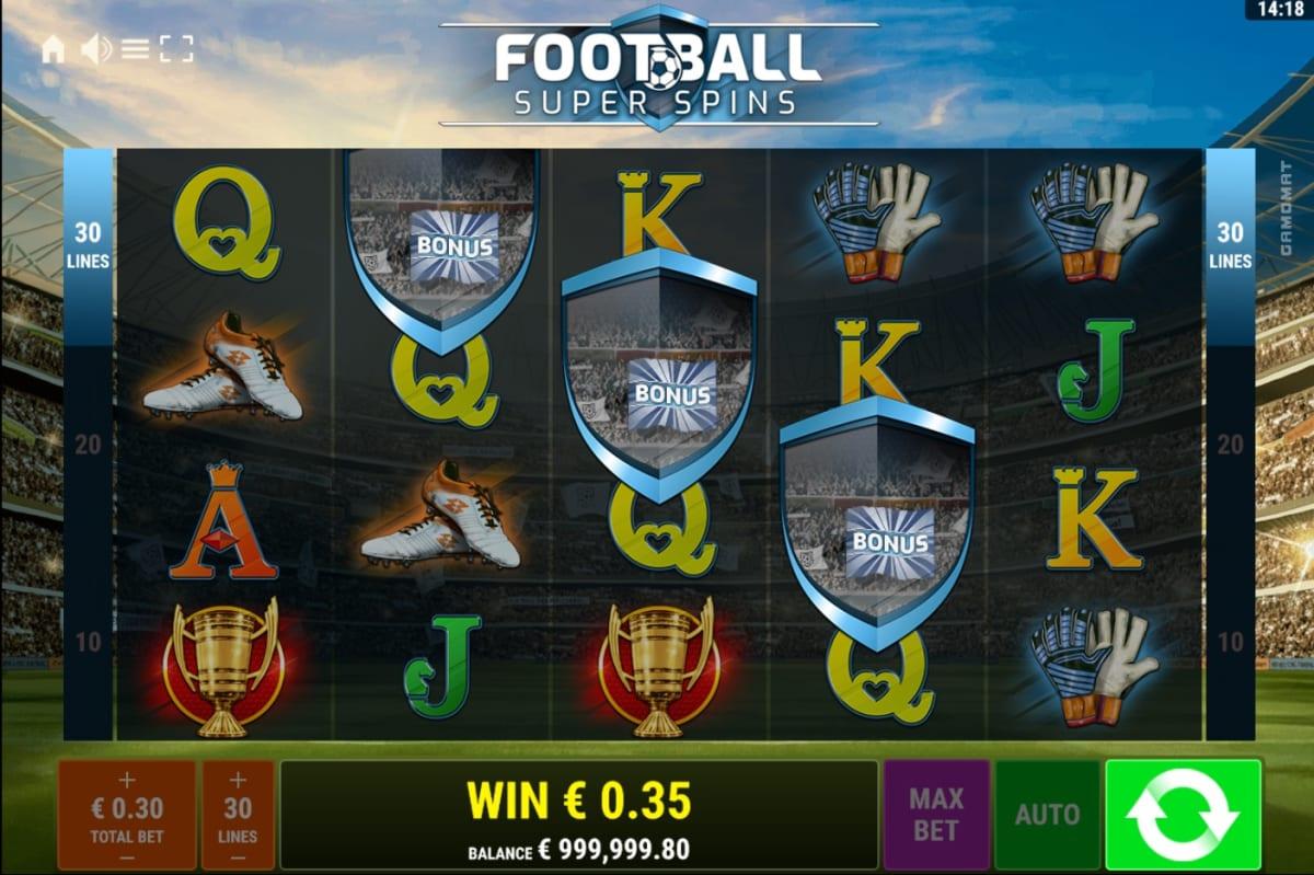 Football Super Spins Free spins