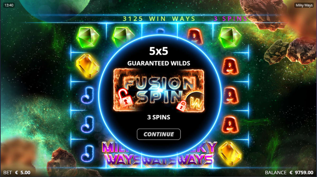 Milky Ways fusion spins