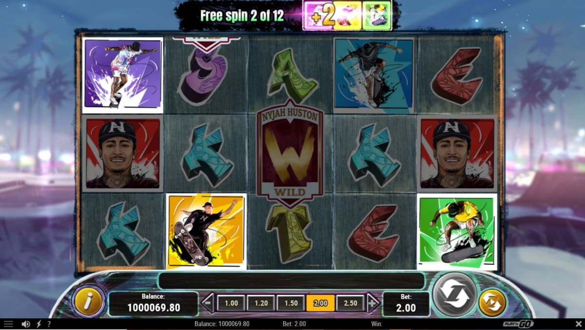 Skate for gold free spins with wildboard