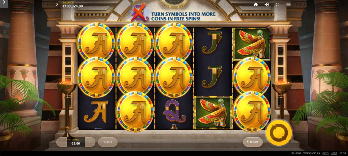 wings of ra coin feature