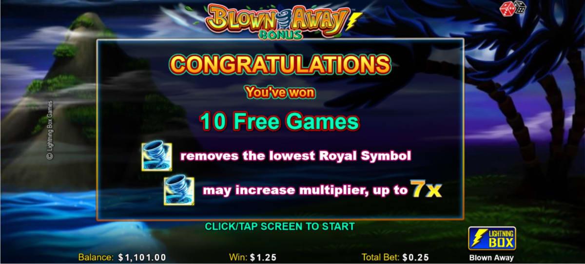 Blown away free spins