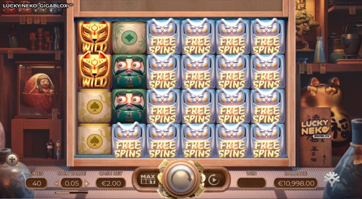 lucky neko free spins