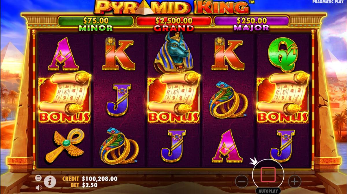 pyramid king free spins