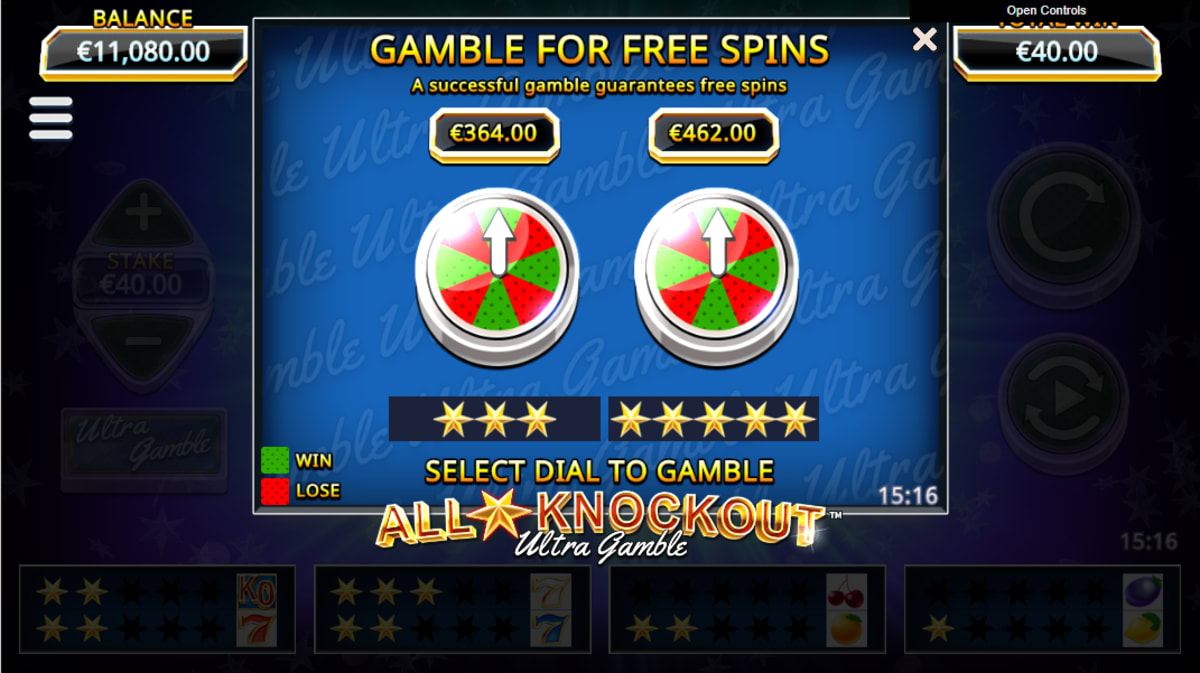 all star knockout ultra gamble feature